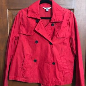 Old Navy Red short trench coat